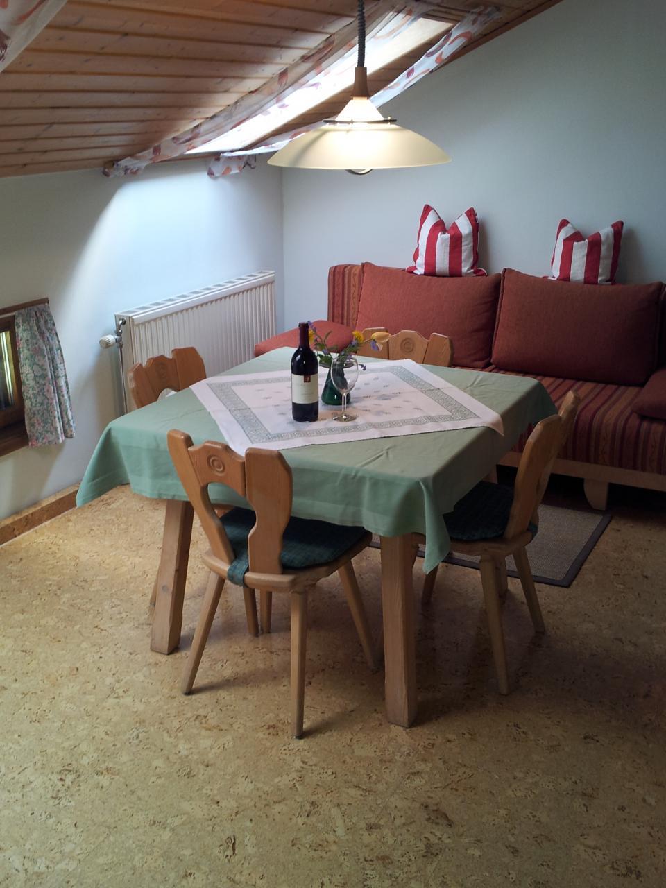 Wohnbereich einer Ferienwohnung